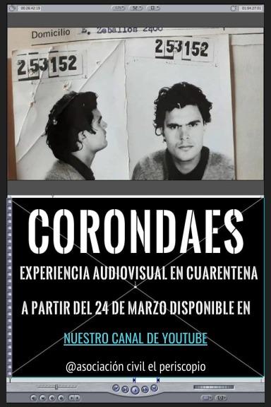 Flyer de invitación al lanzamiento digital de CORONDAES