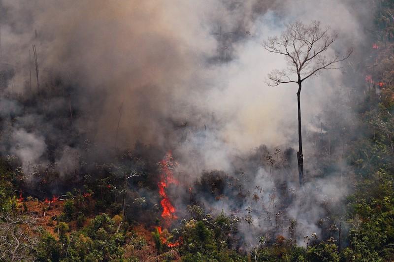 Guatemala combate desde el aire incendio forestal Agencia