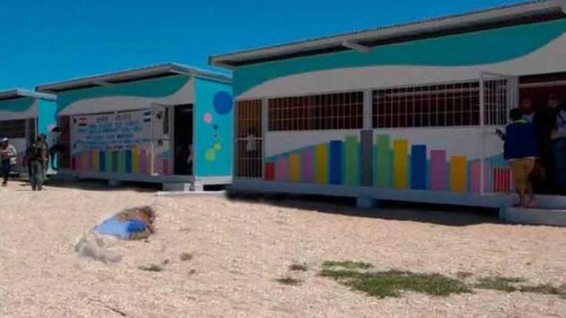Listas aulas de clase prefabricadas en Haulover Managua. Radio La Primerísima