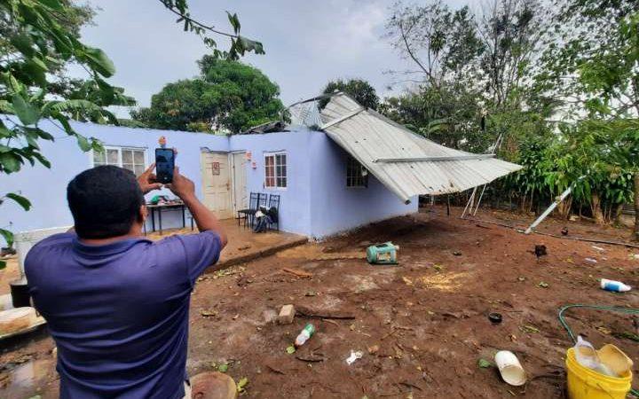 Vientos afectan 7 casas en una zona de Panamá Ciudad Panamá. Agencias