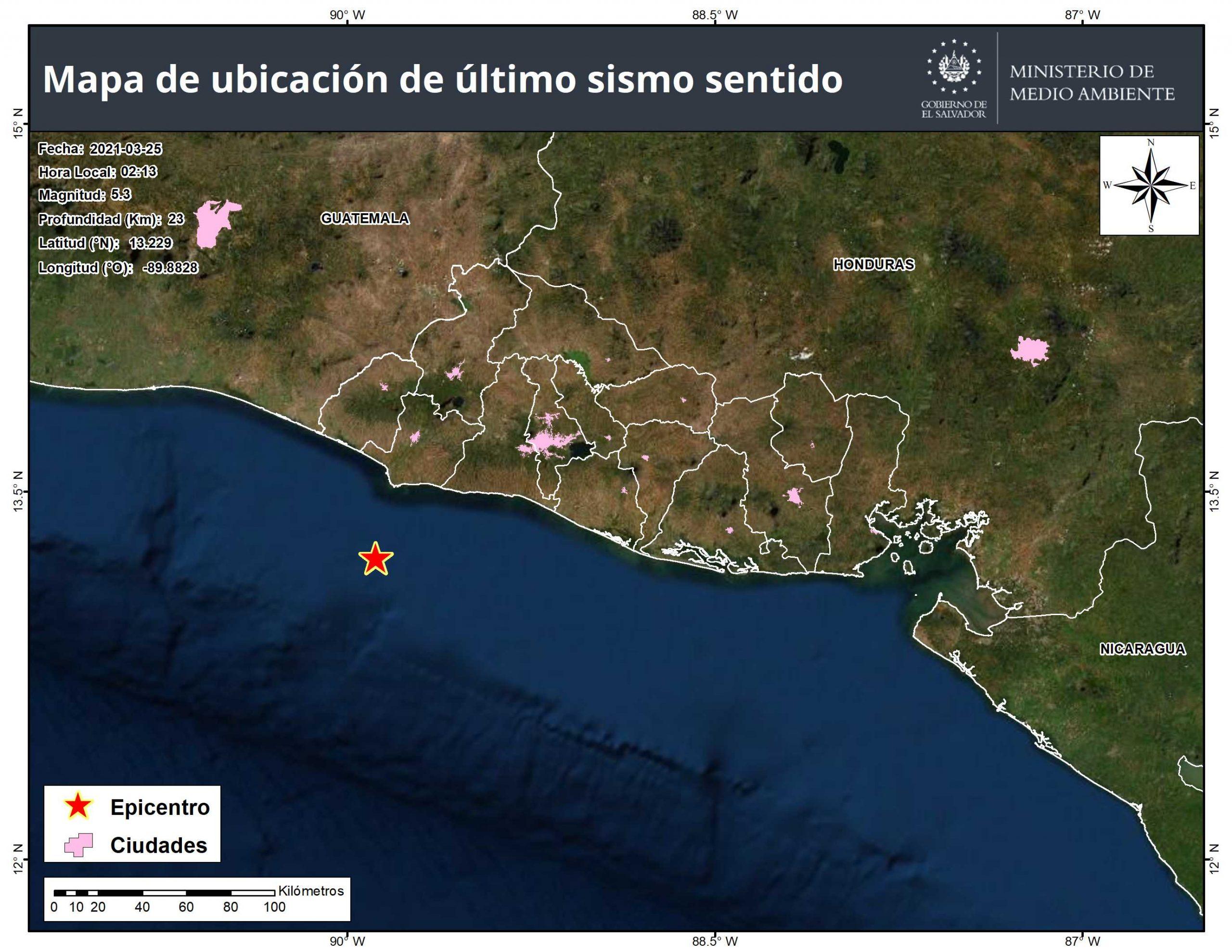 Tiembla frente a la costa de Sonsonate sacude El Salvador San Salvador. Agencias