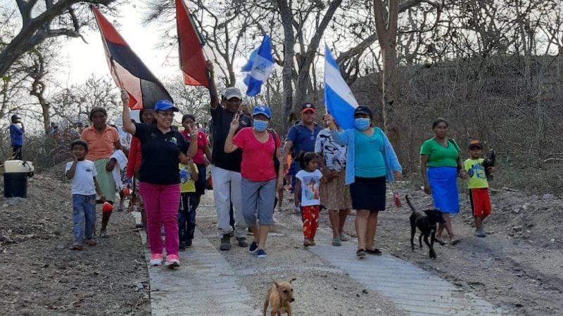 Inauguran Huellas de Rodamiento en comunidad de Mozonte Managua. Radio La Primerísima