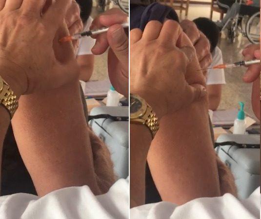 Fingen aplicación de vacuna contra Covid-19 en Costa Rica Managua. Radio La Primerísima