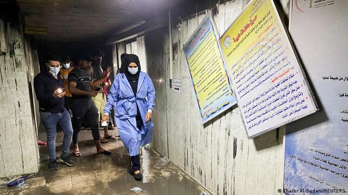 Se eleva a 82 los muertos tras incendio en un hospital en Irak Bagdad. Telesur