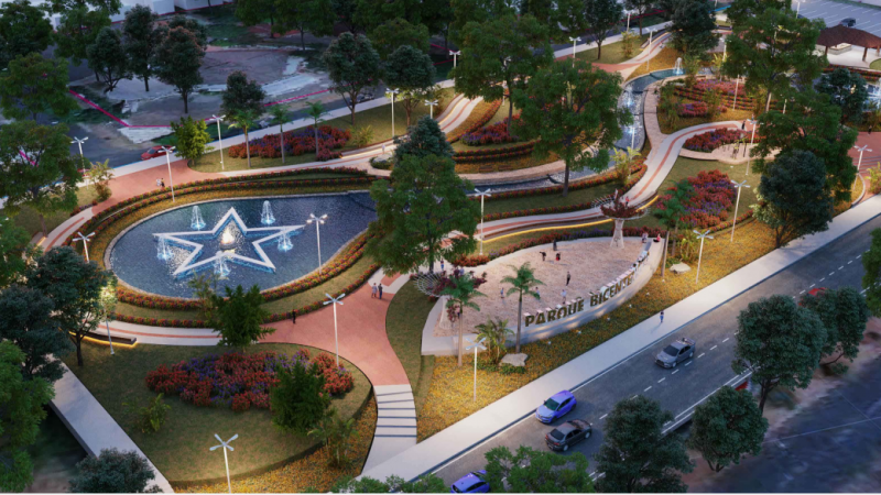Diseño del Parque Monumento Bicentenario de Centroamérica Managua. Radio La Primerísima