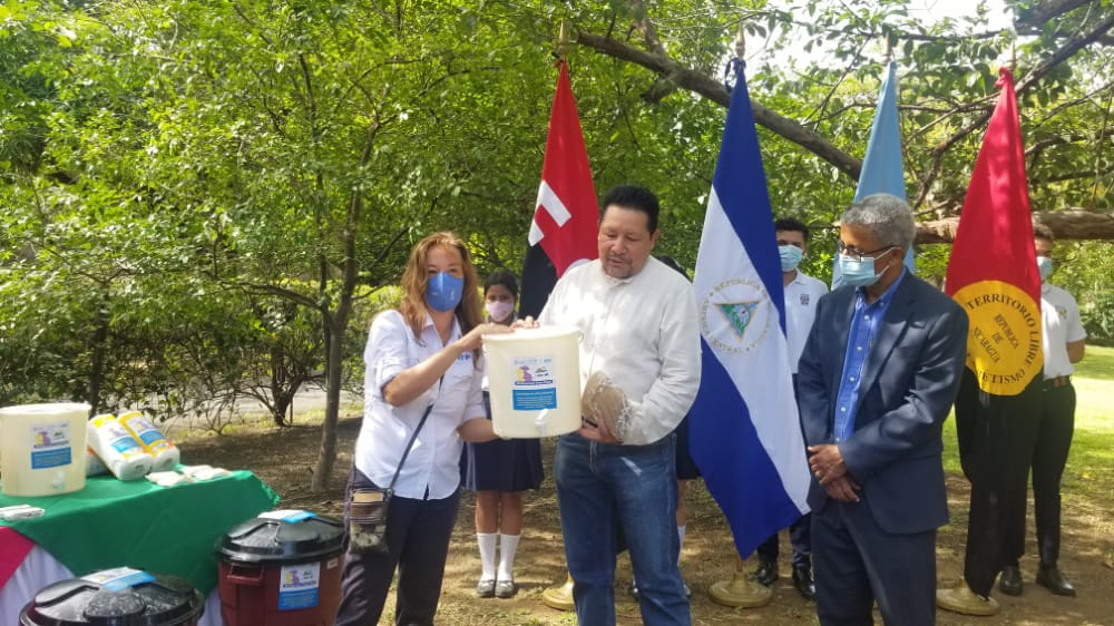 PMA dona material de higiene para prevenir Covid-19 Managua. Por Danielka Ruíz/Radio La Primerísima