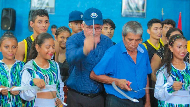 """Inauguran rehabilitación del gimnasio municipal Rosendo """"El Búfalo"""" Álvarez Managua. Radio La Primerísima"""