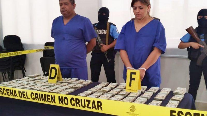 Incautan 140 mil dólares a pareja en León Managua. Jerson Dumas