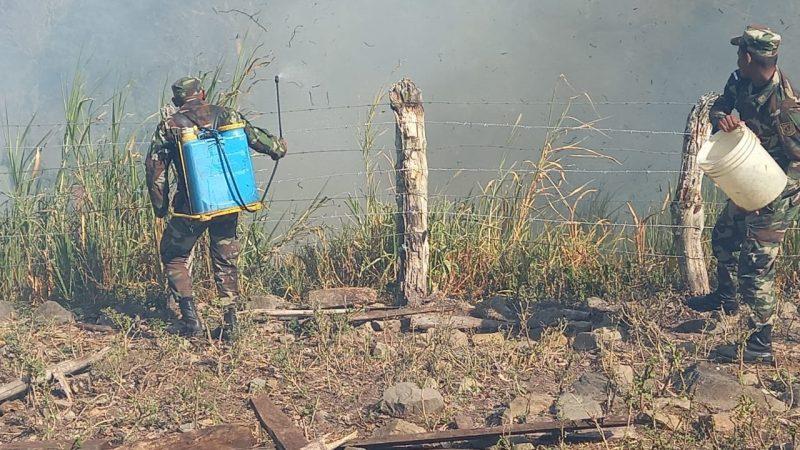 Incendio arrasa con 6 manzanas de pasto seco en Boaco Managua. Radio La Primerísima