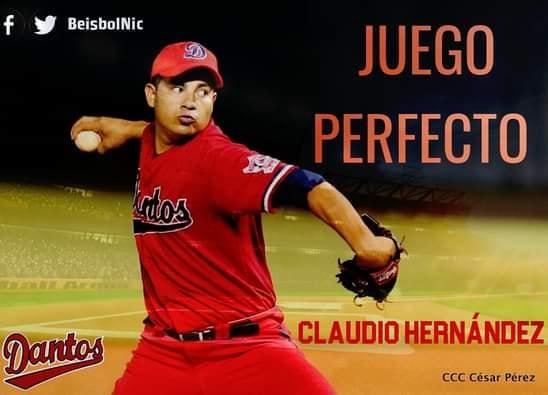 Claudio Hernández lanza juego perfecto Managua. Radio La Primerísima