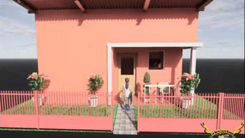 Presentan casa modelo del proyecto Bismarck Martínez en San Marcos San Marcos. Manuel Aguilar/Radio La Primerísima