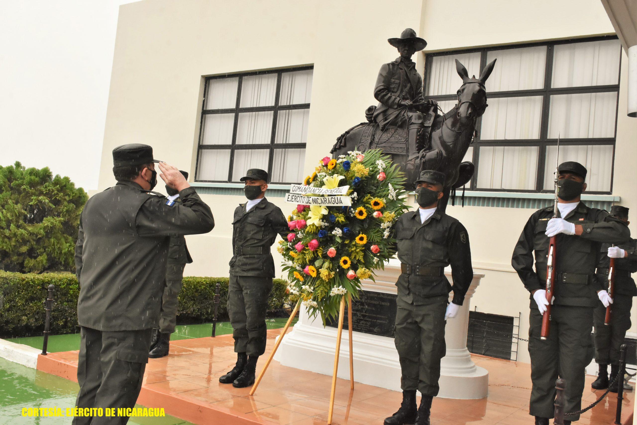 Ejército conmemora día de la Dignidad Nacional Managua. Radio La Primerísima