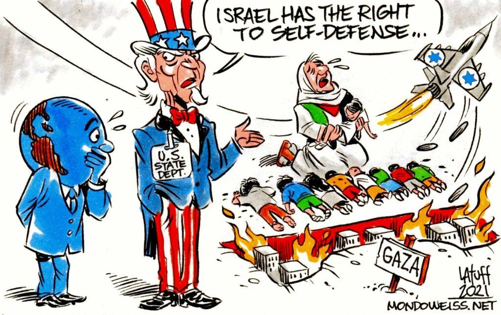¿Acaso el pueblo palestino no tiene derecho a defenderse? Por María Landi | Desinformémonos, México. Imágenes de Carlos Latuff