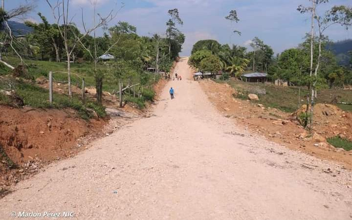 Mejoran 4 kilómetros de camino en Siuna Managua. Radio La Primerísima
