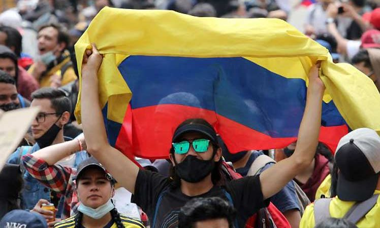 Séptimo día de protestas en Colombia Bogotá. Prensa Latina
