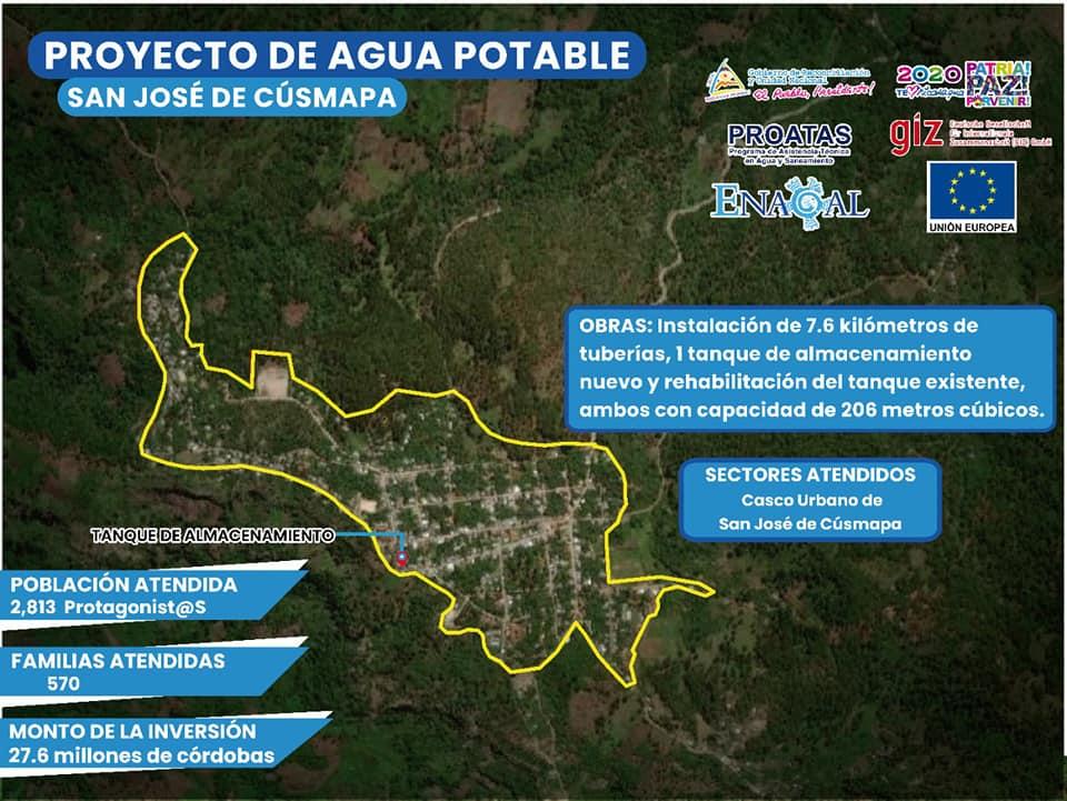 Casi 3 mil habitantes de San José de Cusmapa tendrán agua potable de forma permanente Managua. Radio La Primerísima