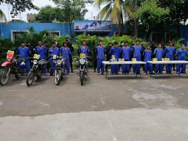 Capturan a 20 delincuentes en Chinandega