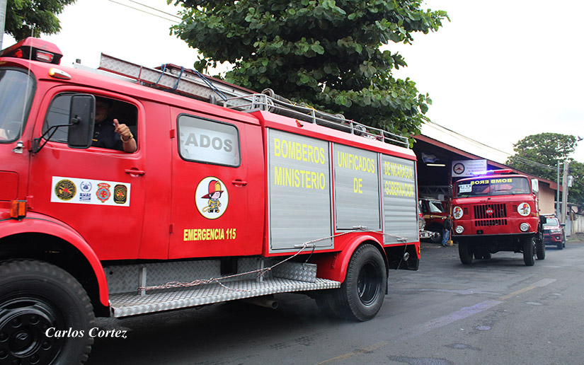 Envían camiones de bomberos hacia San Juan de Río Coco Managua. Radio La Primerísima