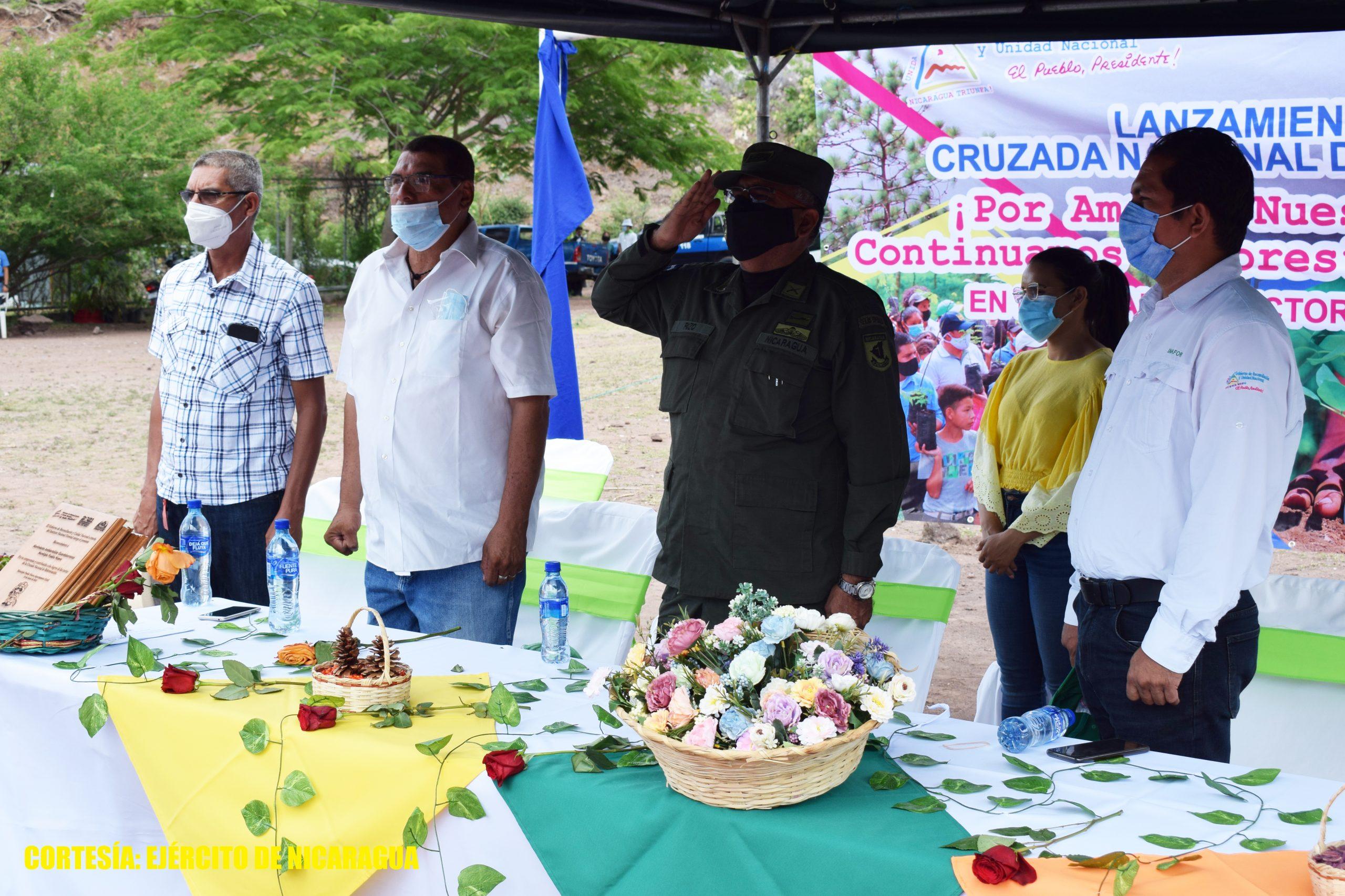 Ejército participa en lanzamiento de la Cruzada Nacional de Reforestación en Estelí Managua. Radio La Primerísima