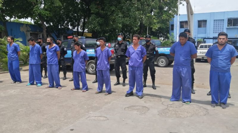 Policía pone tras las rejas a 19 delincuentes en Chinandega Managua. Jerson Dumas/ Radio La Primerísima