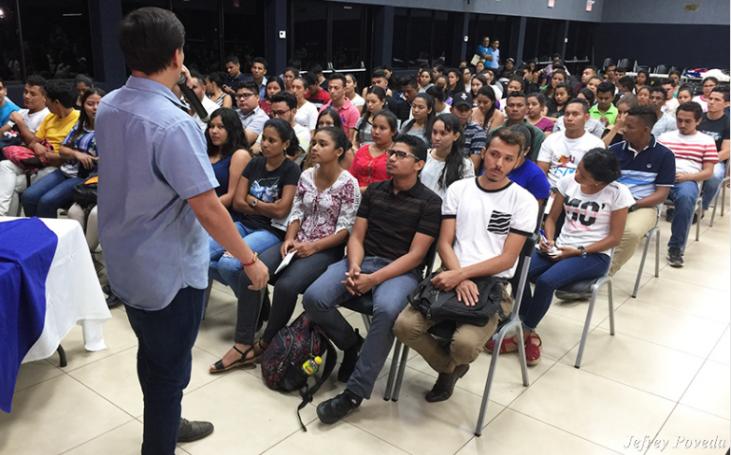 Universitarios son capacitados en prevención de enfermedades crónicas Managua. Lisbeth González / La Primerisima