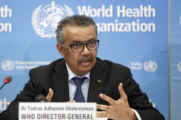 OMS denuncia falta de compromiso político para vacunación contra Covid-19 Ginebra. Prensa Latina