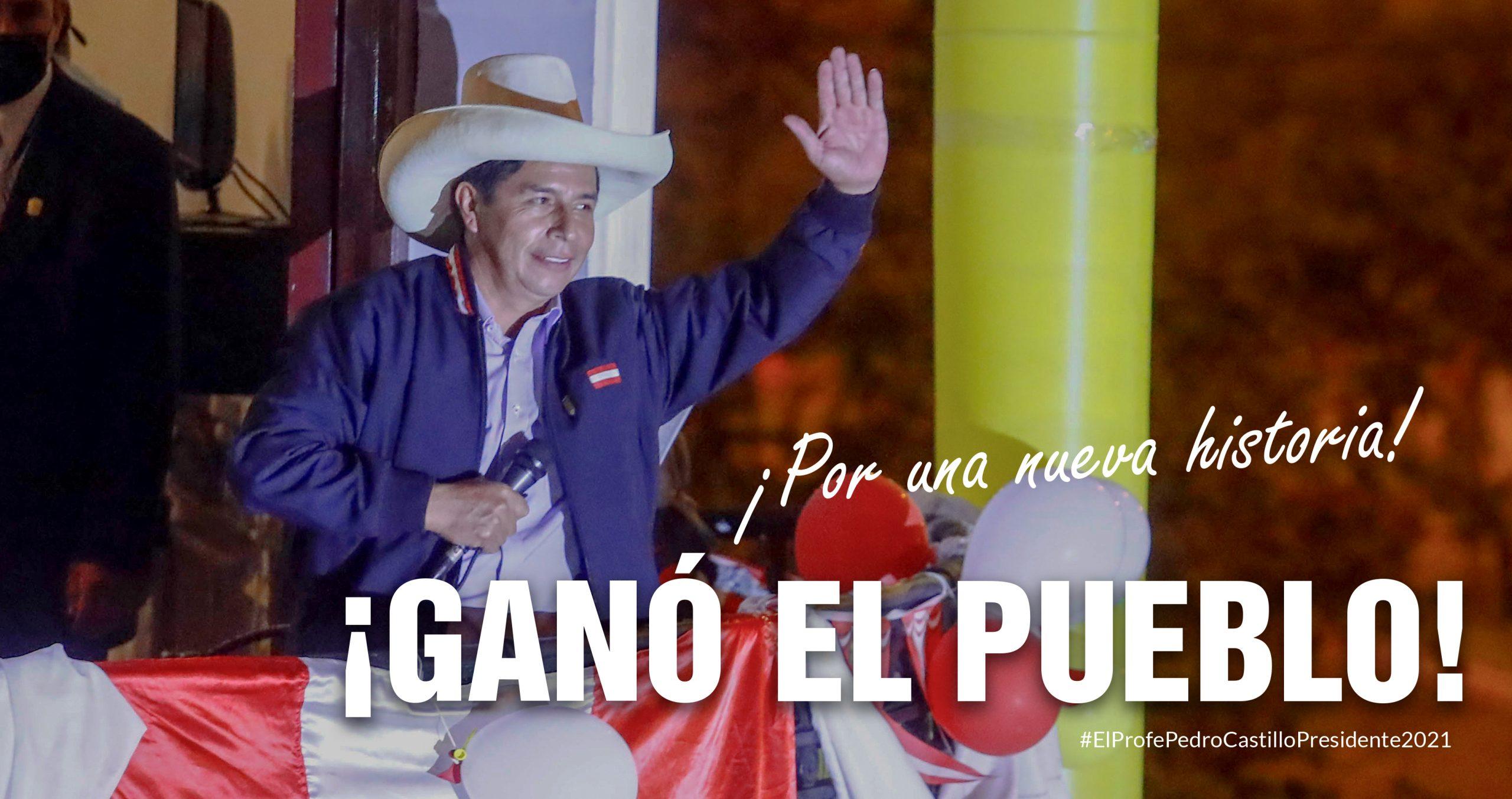 Proclaman oficialmente a Pedro Castillo como Presidente electo de Perú Lima. Agencia Prensa Latina