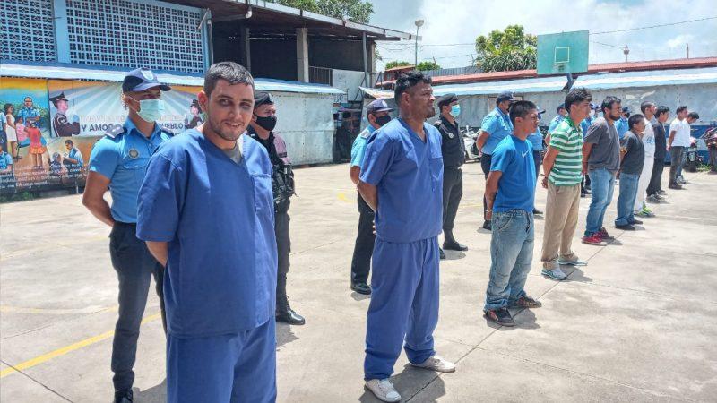 Capturan a 11 peligrosos delincuentes en Carazo Jinotepe. Manuel Aguilar/Radio La Primerísima