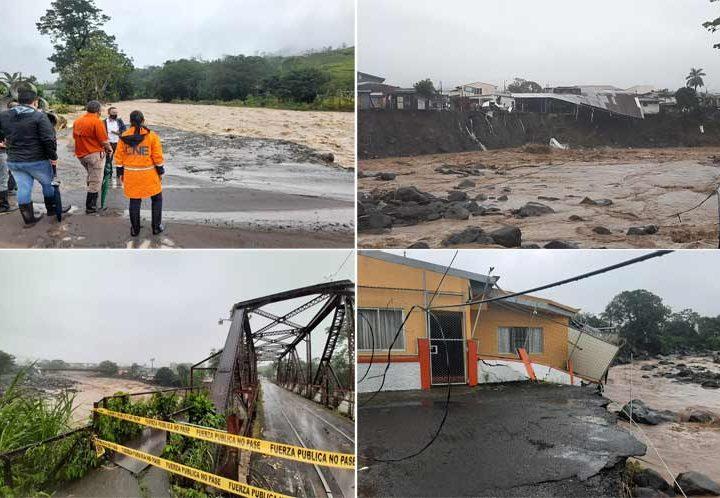 Autoridades buscan atender a afectados por temporal en Costa Rica