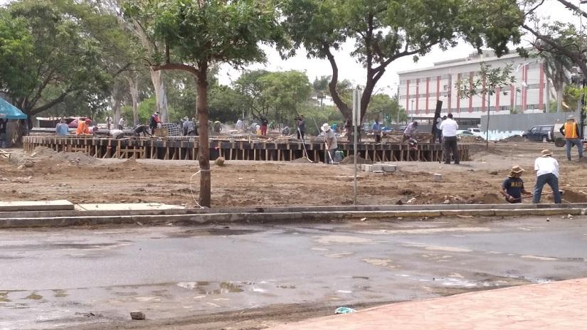 Segunda etapa de parque la paz tiene avance del 70% Managua. Radio La Primerísima