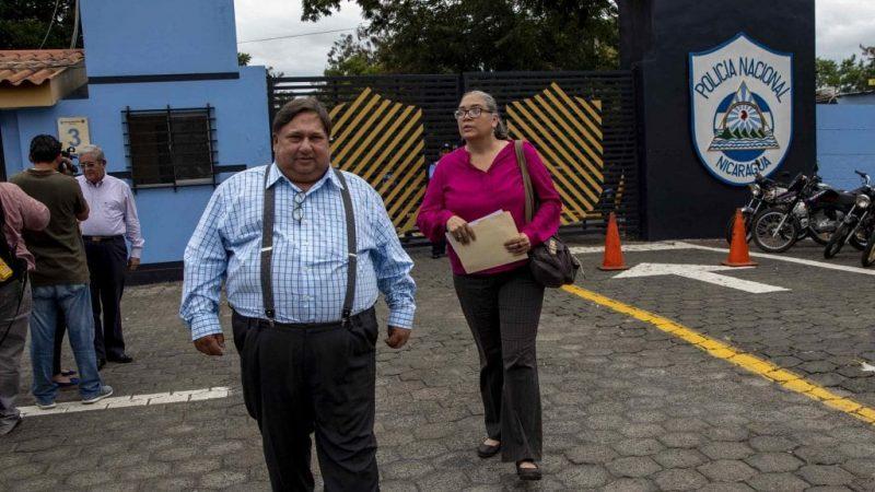"""Policía pone bajo custodia a Noel Vidaurre y Jaime """"El Pingüino""""Arellano Managua. Radio La Primerísima"""