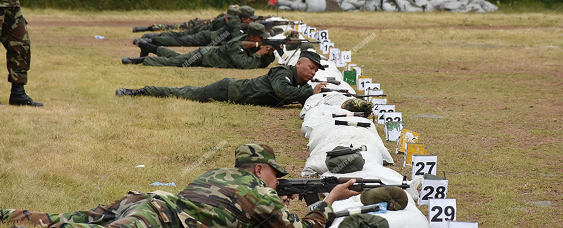Ejército realiza entrenamiento en el Polígono Nacional Managua. Radio La Primerísima