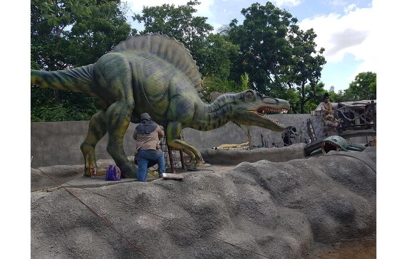 Parquesaurio estará listo a finales de septiembre en Nindirí Managua. Radio La Primerísima