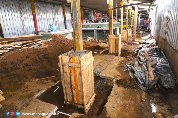 Avanza construcción de galerón en el mercado Israel Lewites Managua. Radio La Primerísima