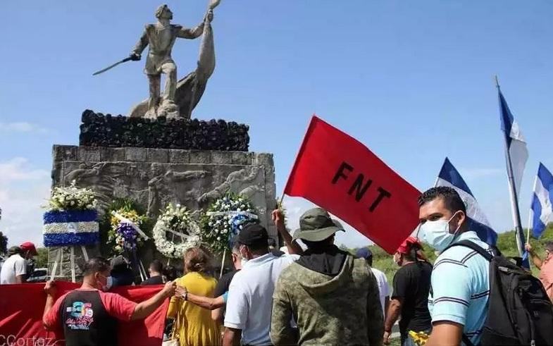 Rinden homenaje a Héroes de la Batalla de San Jacinto Managua. Radio La Primerísima