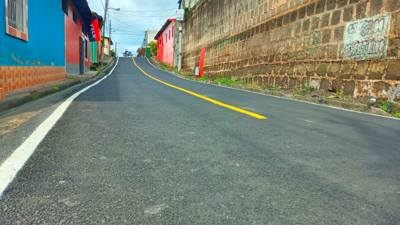 Siguen inaugurando calles en Diriamba Managua. Por Manuel Aguilar/Radio La Primerísima