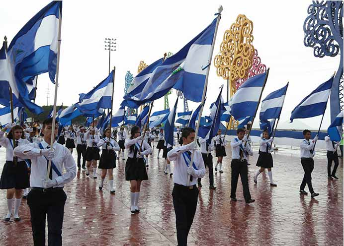 Centros de enseñanza realizan actos por días patrios Managua. Radio La Primerísima
