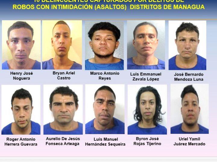 Más de 50 delincuentes capturados en el país