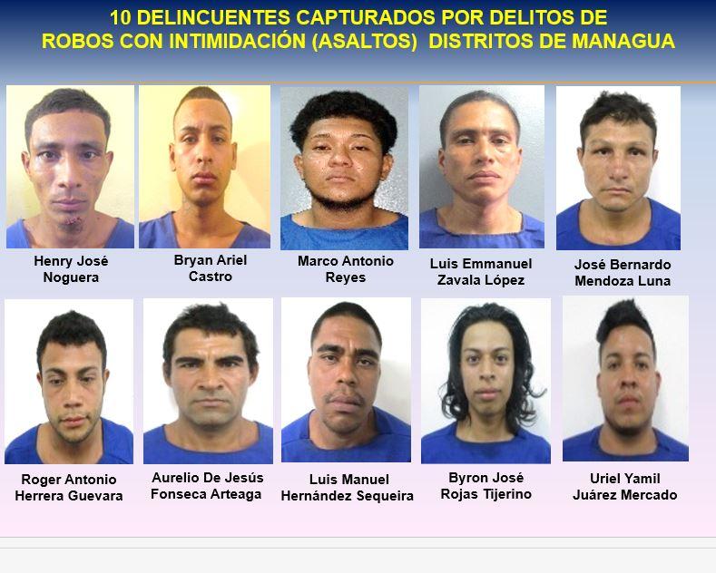 Más de 50 delincuentes capturados en el país Managua. Radio La Primerísima
