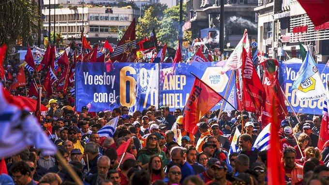 Paro General en Uruguay por reivindicaciones sociales Montevideo. Agencias