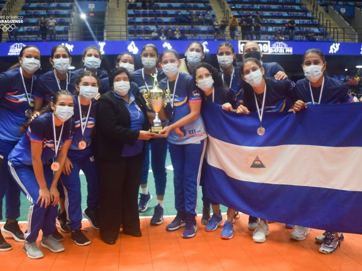 Nicaragua gana medalla de plata en Copa Centroamericana de Voleibol