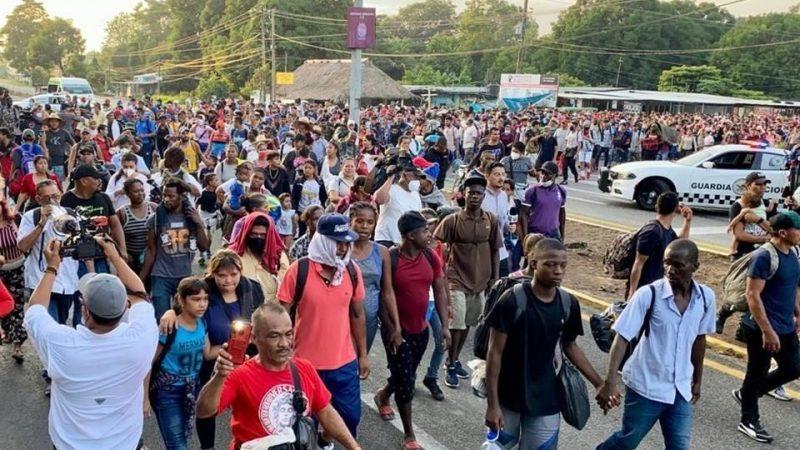 Caravana de migrantes se dirige a la capital de México Moscú. Sputnik