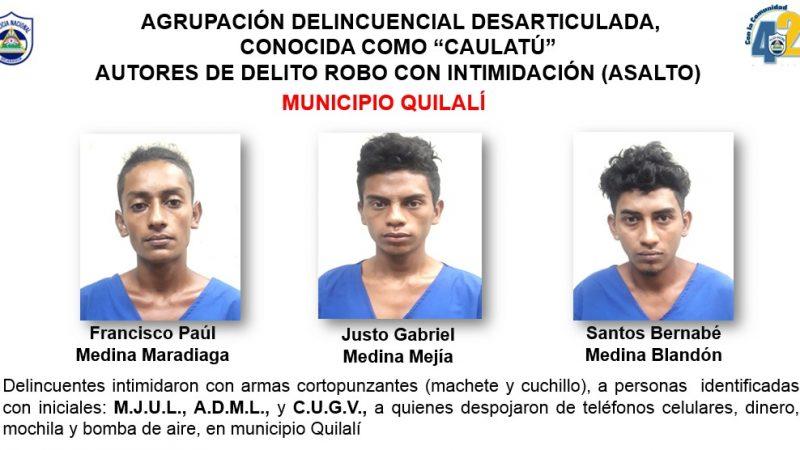 Desarticulan banda que operaba en Quilalí Managua. Por Jerson Dumas/Radio La Primerísima