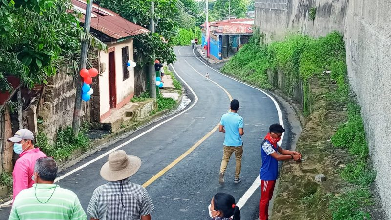 Calles para el Pueblo es una realidad en Diriamba Diriamba. Manuel Aguilar/Radio La Primerísima