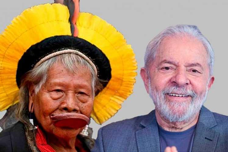 Líder indígena de Brasil anunció apoyo a Lula Da Silva Brasilia. Prensa Latina