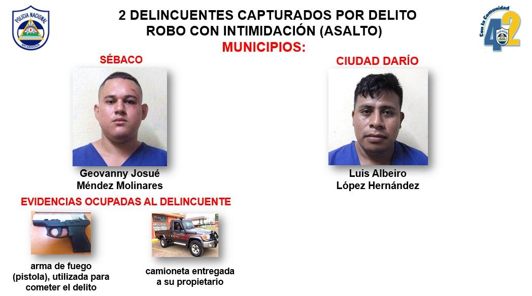 Capturan a 11 delincuentes en Matagalpa Managua. Por Jerson Dumas/Radio La Primerísima