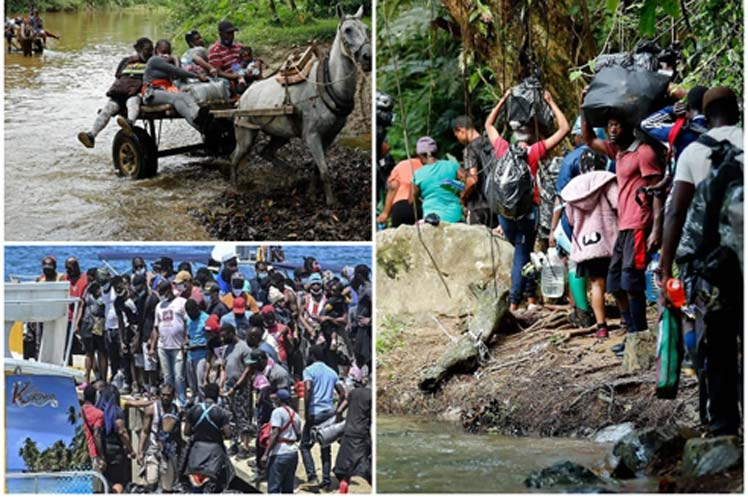 Crisis humanitaria de migrantes en Colombia Bogotá. Prensa Latina